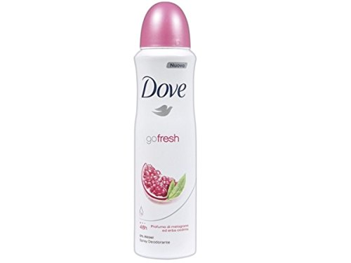 Dove Go Fresh - Desodorante en spray de granada, 150 ml, sin alcohol
