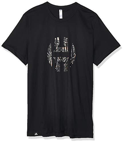 adidas Harden Logo tee Camiseta de Manga Corta, Hombre, Black, M
