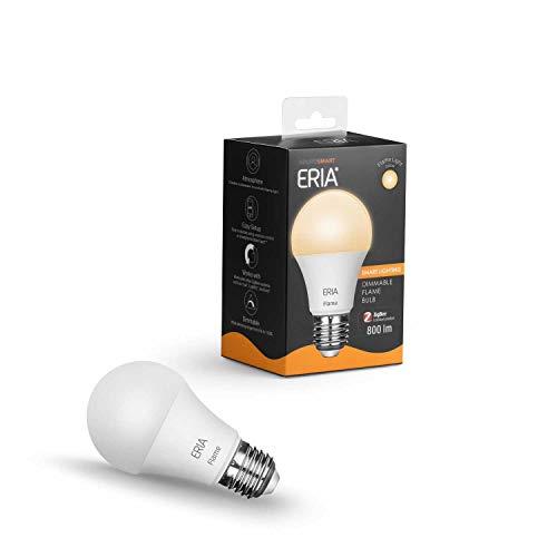 ERIA E27 LED-lamp - dimbaar, warm wit licht - onder andere compatibel met AduroSmart, Hue en Alexa