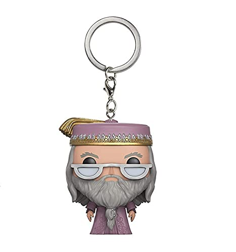 SDFH Funko Pop Llavero Figuras De Anime Muñecas Dumbledore Pop Vinilo 5Cm Versión Q Muñecas Modelo De Personaje Juguetes En Caja Niños para Decoración Regalos para