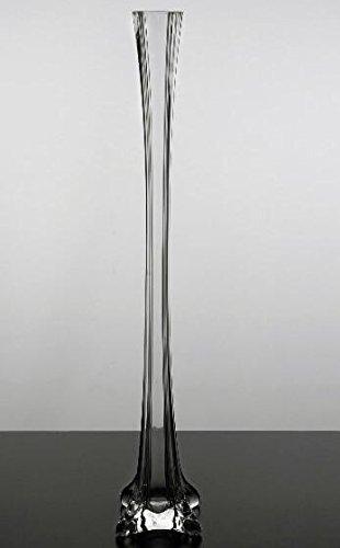 Richland Clear Glass Eiffel Tower 20 Inch Vase