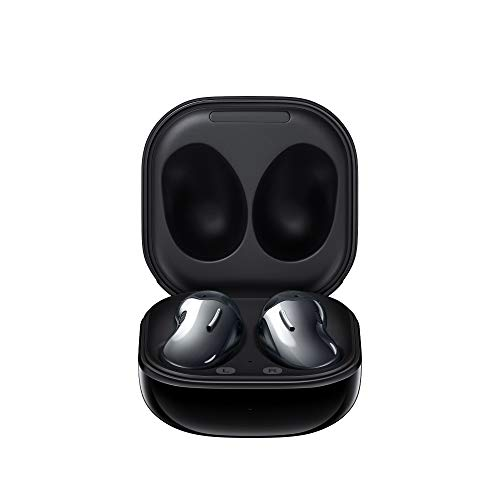 Samsung Galaxy Buds Live (ANC) Active Noise Cancelling TWS Open Type Wireless Bluetooth 5.0 Earbuds for iOS & Android, 12mm Drivers, International Model - SM-R180 (Mystic Black)
