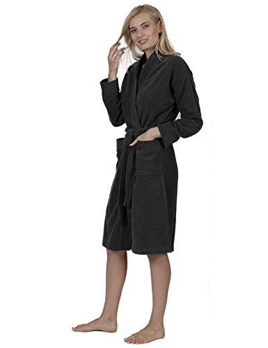 RAIKOU Albornoces de hombre , albornoces de mujer, pijama corto de micro terciopelo, chaqueta de sauna con cinturón, pijama unisex súper esponjoso y suave(Ceniza mixta,XL)