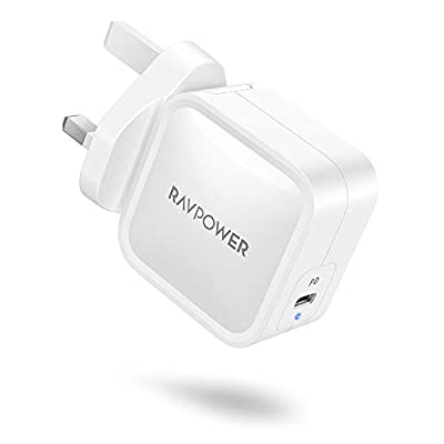 RAVPower USB C Charger, 65W PD Charger GaN Fast Charger, Dual Port Wall Charger Adapter for MacBook Pro Air/iPad air 4/Nintendo Switch, iPhone 12 Mini Pro Max/11/Pro/Max/XR, Galaxy/S9/S10 and More