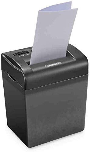 Mnjin Home Office 4-Blatt-Aktenvernichter für quergeschnittenes Papier/Kreditkarten mit 4,5 l Papierkorb, Überlast- und Wärmeschutz, Mini-Aktenvernichter für Handbetrieb, tragbarer Aktenve