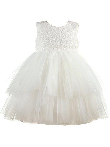 Heritage Christening and Special Occassion wear Misty Robe de baptême, Ecru (Antique White 1), 6 Mois Bébé Fille