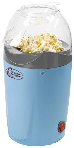 Bestron Machine à pop-corn à air chaud pour réaliser jusqu'à 50 g de pop-corn, Sweet Dreams, 1200 W, Bleu