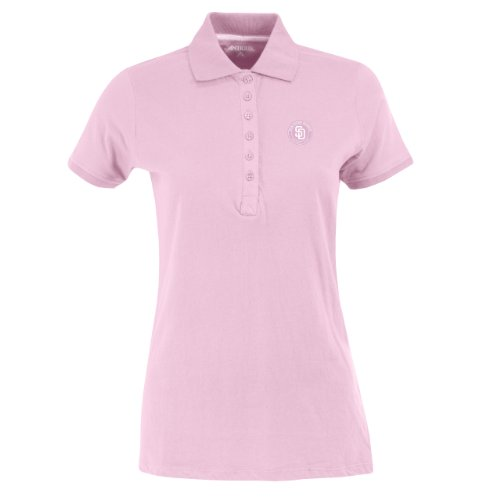 Antigua MLB San Diego Padres Women's Spark Polo, Mid Pink, Small