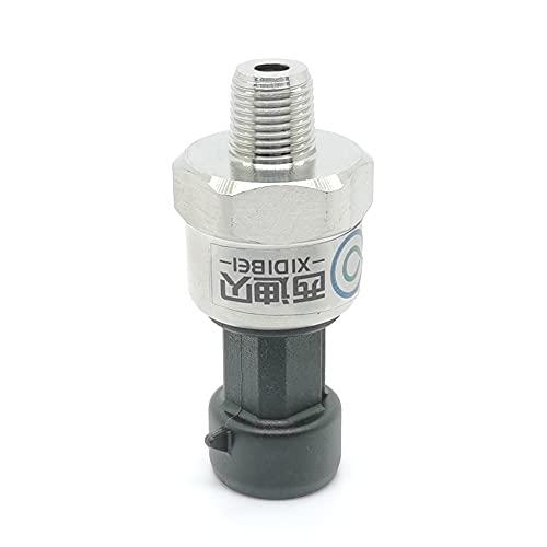 TANGIST Transductor del sensor de presión Transmisor para aceite de combustible de combustible de aceite 1 / 8NPT DC 5V Sensor de cerámica Acero inoxidable 5-300PSI Opcional