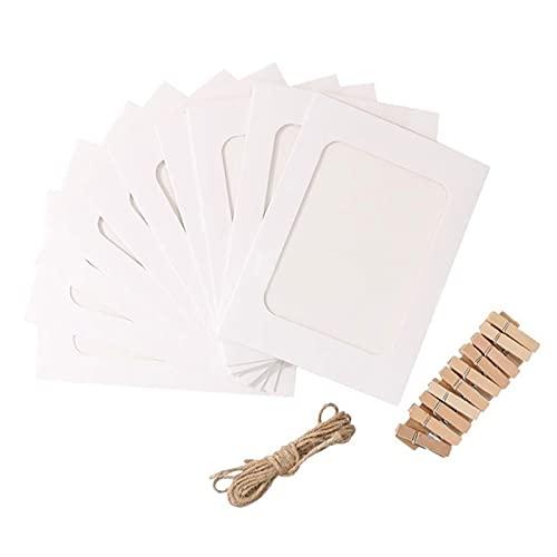 Steelwingsf Portafotos para colgar en la pared, color blanco