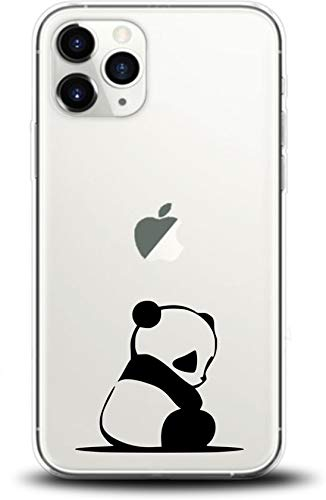 Simar Products - Cover in Silicone per Apple iPhone 11 PRO, Motivo: Panda Trasparente
