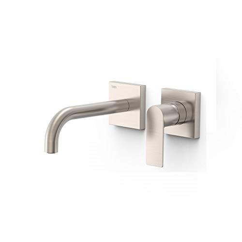 Grifo monomando empotrado para lavabo, gama Loft-Colors, con amortiguadores acústicos y caño de 180 milímetros, 25,4 x 19,4 x 7,4 centímetros, acabado acero (referencia: 20030001AC)