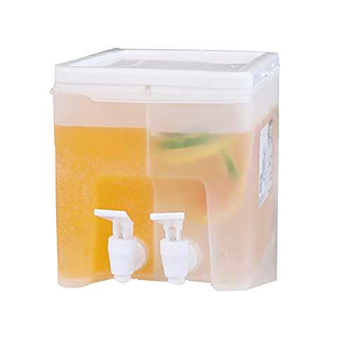 Dispensador de agua para frigorífico, con grifo, dispensador de bebidas con grifo, vaso con grifo, jarra grande de agua, dispensador de limonada, dispensador de zumo para bebidas y frigorífico.