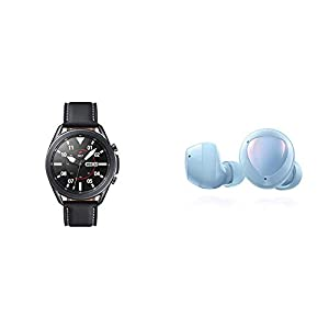 Samsung Galaxy Watch 3 (45mm, GPS, Bluetooth) Smart Watch – Mystic Black (US Version) with Samsung Galaxy Buds+ Plus…