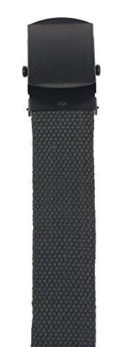 MFH Gürtel mit Metallschloß Koppel Stoffgürtel Länge bis 130 cm verstellbar Breite: 3 cm viele Farben (Oliv)