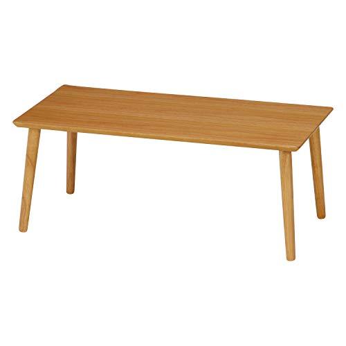 不二貿易 ローテーブル 幅80cm ナチュラル 天然木 簡単組み立て 10865