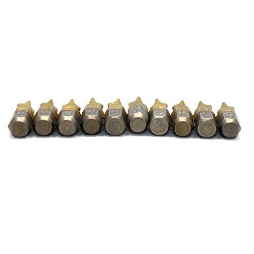 10pcs 25mm Titanium Coated Anti Slip Hex Shank PH2 Destornillador eléctrico Bit