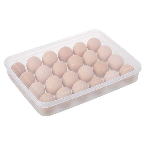 WFRAU 24 Eierhalter Aufbewahrungsbox Picknick-Küche Kühlschrank Frischhaltebehälter Transparent