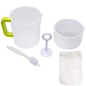 Nut Milk Greek Yogurt Strainer with Stainless Steel Filter -Oat/Tea/ Fruit Juice and Soy milk filter cup -every slag…  