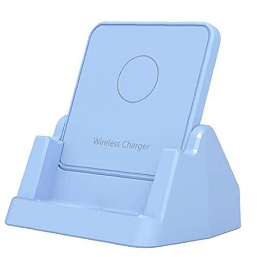Soporte de cargador inalámbrico 15W USB Tipo-C Teléfono rápido Cojín de carga Estación de acoplamiento azul para la mayoría de los teléfonos inteligentes