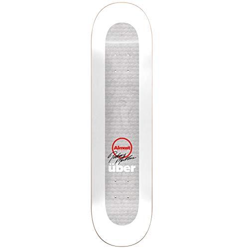 Almost Rodney Mullen Pro Uber Skateboard-Brett / Deck, 21 cm, Weiß