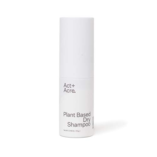 Act+Acre Plant Based Dry Shampoo | Natural and Unscented Powder Spray with Fulvic Acid and Rice to Refresh Oily Hair and Build Volume | Talc Free and Colorless for Light and Dark Hair