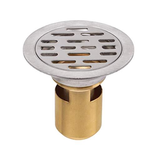 Hemobllo Bodenablauf Bodenablauf aus Edelstahl Küchenzubehör aus Edelstahl Badezimmerzubehör Deo-Stopfen Bodensieb für Den Innenbereich (Tiefwasserdichtung 50 Rohre für Den Einmaligen