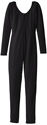 Capezio Big Girls' Team Basic Long Sleeve Unitard, Black, Medium
