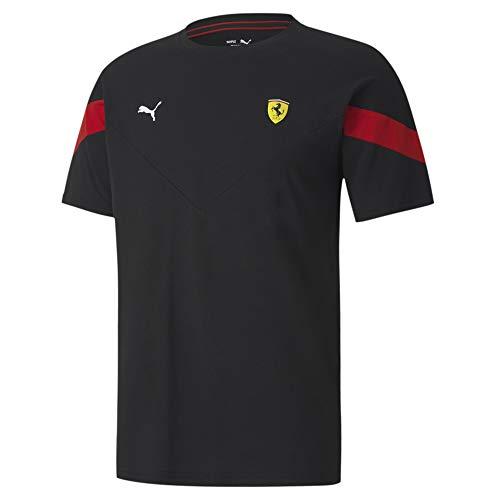 PUMA Herren Ferrari Race MCS Black T-Shirt, Schwarz, S