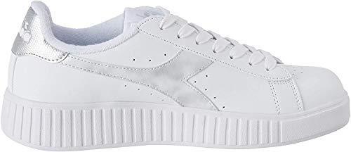 Diadora Game P Step Wn, Scarpe da Fitness Donna, Bianco (White/Silver C6103), 39 EU