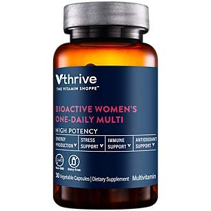 Bioactive Multivitamin for Women Once Daily Supports Stress, Healthy Aging (30 Vegetarian Capsules)