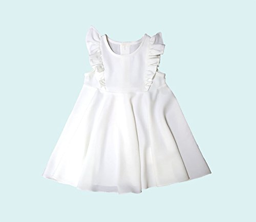 Girls White ruffle dress for toddler kids nice clothes outfit fall dresses little niece gift outfit