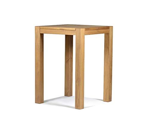 Naturholzmöbel Seidel Hochtisch 80x80cm Rio Bonito Farbton Honig hell Pinie Massivholz Tisch Bartisch Bistrotisch Stehtisch geölt und gewachst, Optional: passende Barhocker mit Metallstreben