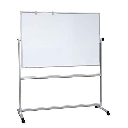 VISCOM Mobiles Whiteboard mit Alurahmen - 200 x100 cm - Doppelseitige Whiteboard mit Rollen, Magnetisch, Beschreibar, Weitere Größen Wählbar