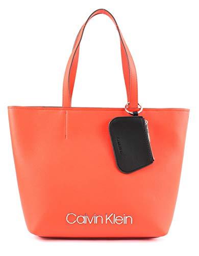 Calvin Klein Damen Ck Must Med Shopper Tote Orange (Tangerine)