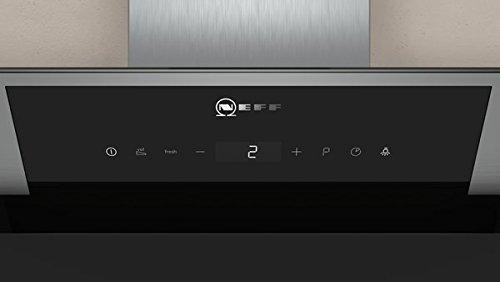 Neff D95IPP1N0 Dunstabzugshaube schräg N70 / 90cm / Abluft oder Umluft / EfficientDrive / TouchControl / Energieeffizienz A / Klarglas / schwarz - 12