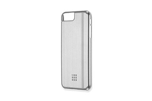 Moleskine Cover Rigida in Alluminio per Iphone 6+/6s+/7+/8+, Custodia per iPhone in Edizione Plus con Quaderno Volant Journal XS per Appunti, Colore Argento