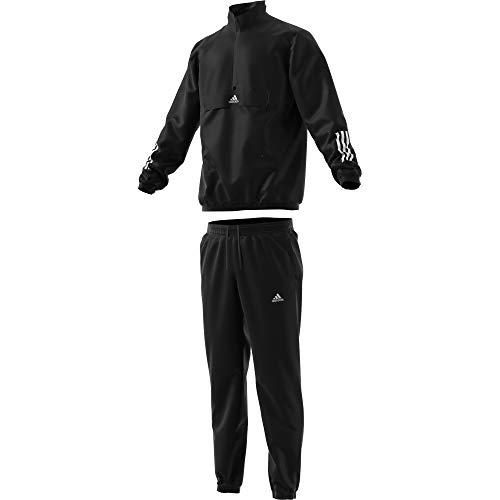 adidas MTS Tech Chándal, Hombre, Negro (Black/White), XS