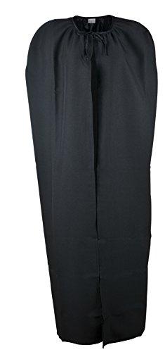 Ramona Lippert Umhang mit Bindeband Cape Vampir Kostüm Halloween schwarz Einheitsgröße Erwachsene
