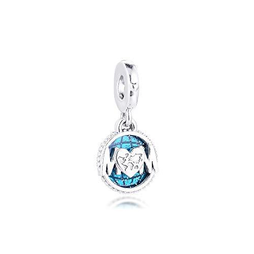 925 Sterling Silver Pandora Ladies Bracelet Jewelry Beads Glitter Globe Mum Charms Original Fit S For Making Women Diy Glamour Girl Gift