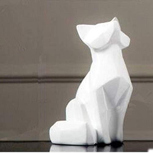 FGDSA Esculturas Adornos Estatuas Y Figuras Simulación Origami Fox Simulación Modelo Animal Colofonía Artesanía Escultura Decoración De Escritorio