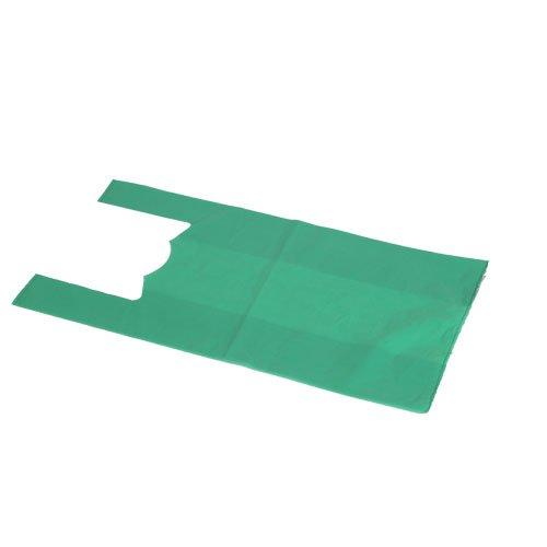 Chiner - Bolsas de Plástico Asa Camiseta Color (Verde)
