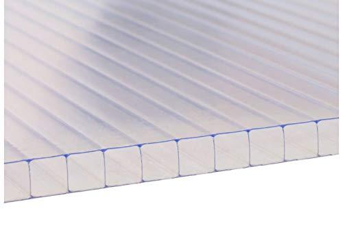 Panel de Policarbonato Alveolar Transparente | Grosores 4mm, 6mm, 8mm, 10 mm | Varias medidas | Corte a medida gratis | (6MM, 190 x 100 CM)