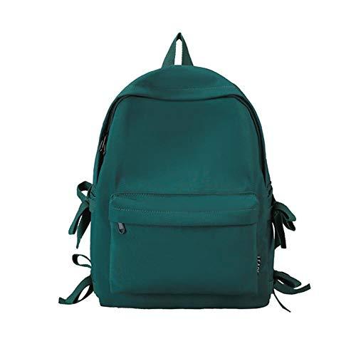 ASHX Schulranzen aus Nylon für Teenager, Mädchen, Kinder, große Kinder, Studenten, Rucksack, Rosa grün