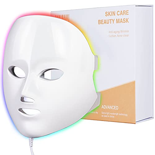 Light Therapy Mask, NEWKEY Led Face Mask Light Therapy for Skin Rejuvenation - Anti Aging - Fine Lines & Wrinkles - Dark...