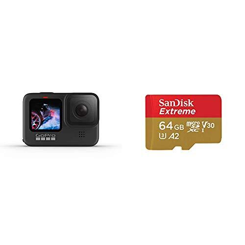 GoPro HERO9 Black - Cámara de acción + SanDisk Extreme - Tarjeta de Memoria microSDXC de...