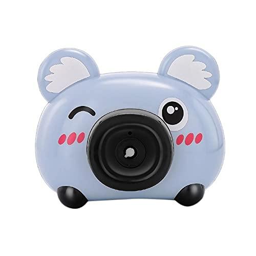 BOIPEEI Elektrischer Lüfter Bubble Machine Outdoor-Spielzeug für Kinder Mädchen Gebläse Bubble Kamera Spielzeug mit Leichter Musik