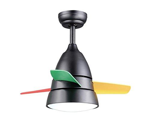 QMMCK Plafondventilator 36 inch 3 ABS-kunststofmessen 16 W LED afzonderlijke lamp extern toerental kan vooruit en achteruit zijn.