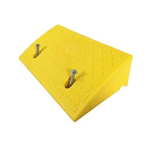 Xzg1-Rampe 13CM Kunststofframpsen, Multifunktions-Steigauflage Am Straßenrand Tragbare Innenrollstuhlrampsen Aufwärtsdreieck(Color:Gelb,Size:50 * 27 * 13CM)