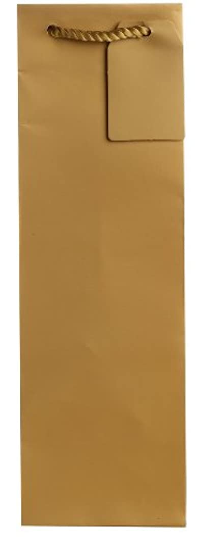 Jillson Roberts 6-Count Wine and Bottle Gift Bags Available in 6 Different Solid Colors, Gold Matte